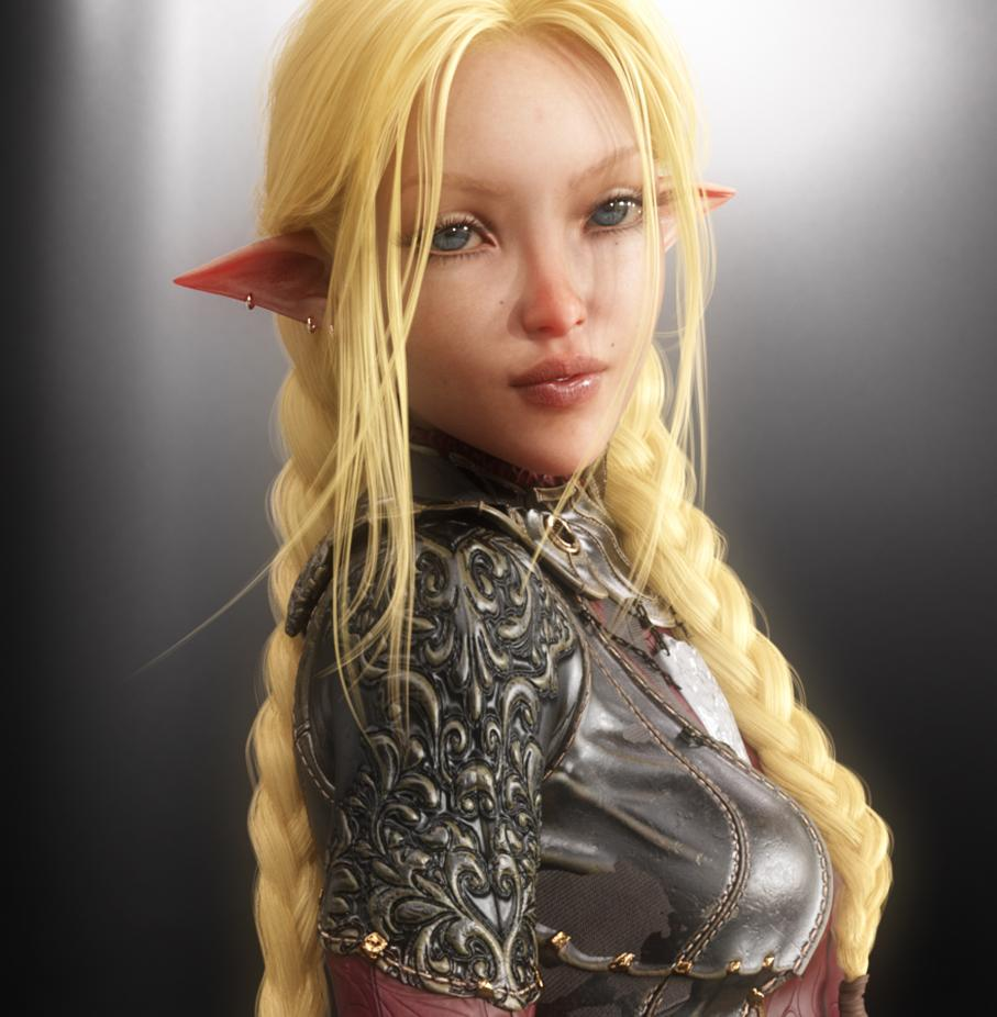 You see Kaskha Sida'Myssa. She appears to be a Half-Elf. She is of a middling height and has a thin petite frame. She appears to be in the spring of life. She has thick-lashed tempest blue eyes and velvety smooth alabaster skin. She has long, unruly golden blonde hair cascading in sun-bleached layers down the small of her back. She has a perfectly symmetrical, delicately featured face and a narrow waist. A caliginous halo enshrouds the irises of her eyes, lending to their deep appearance.